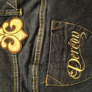 Denim - Dereon Gold Embellish Jeans